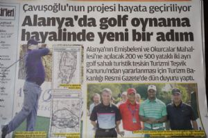 Dream of Having Golf Courses in Alanya is becoming real step by step…