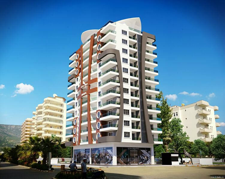 New, attractive apartments in Mahmutlar